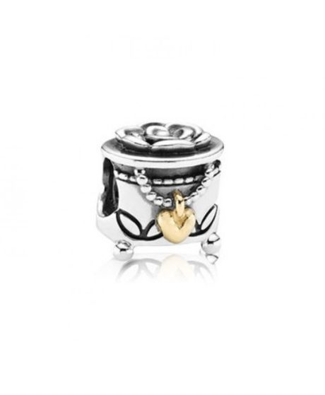 фотография шарм пандора шкатулка с любовью (с золотом) 791019-1