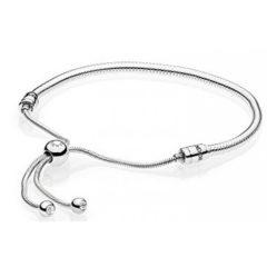 фотография браслет пандора серебрянный слайдер 597125CZ-2