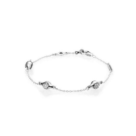 фотография браслет пандора cияющие узелки любви 567354CZ