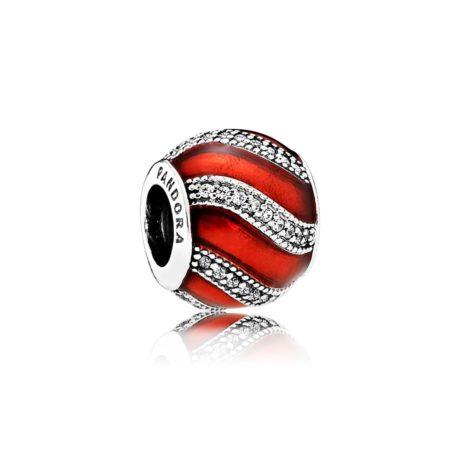 фотография шарм пандора новогодний красный шар 167543-3