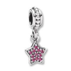 фотография подвеска пандора сверкающая красная звездочка 56745-3