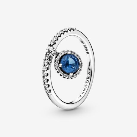 фотография кольцо пандора танцующий сверкающий круг 198491С01