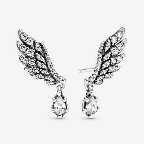 фотография серьги пандора танцующие крылья ангела 298493С01