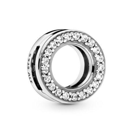 фотография клипса пандора reflexions сверкающее кольцо 798600С01-