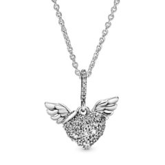 фотография колье пандора сверкающие крылья ангела любви 398505С01