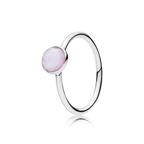 фотография кольцо пандора лунный камень(бело-розовый)(58р-р)