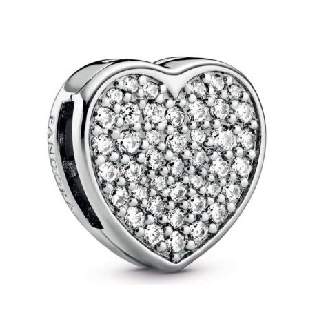 фотография шарм-клипса пандора reflexions сердце pave 798684С01