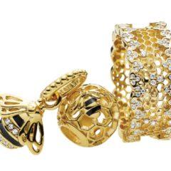 фотография кольцо пандора  shine - медовые соты (58р-р)  №1