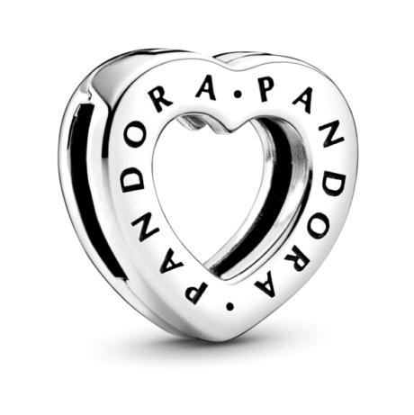 фотография шарм-клипса пандора reflexions сердце с логотипом 797411С00-
