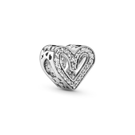 фотография шарм пандора сияющий эскиз сердца 798692С001