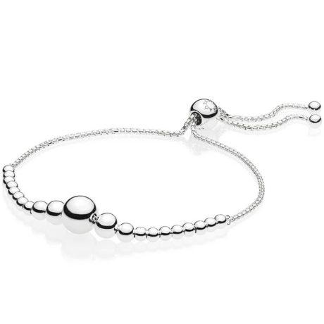 фотография браслет пандора струящийся бисер 597749