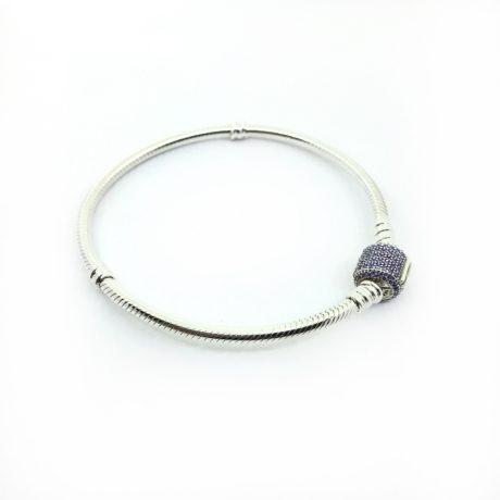 фотография браслет пандора фиолетовая сверкающая классика (19 р-р) 590723CFP