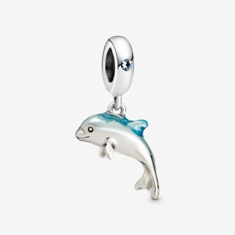 фотография подвеска пандора мерцающий дельфин 798947С01
