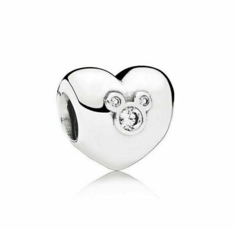 фотография коллекционный шарм пандора сердце микки 791453CZ