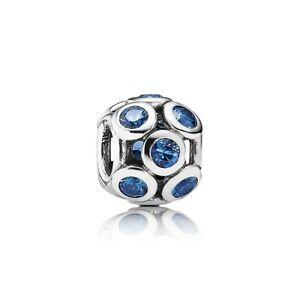 фотография шарм пандора сияющие кружочки голубые 791153nsb