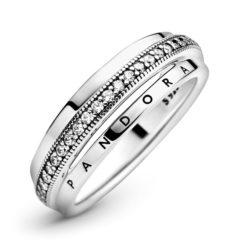 фотография кольцо пандора тройная логомания  №1