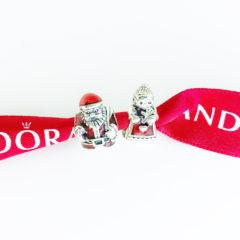 фотография набор шармов пандора новогодняя парочка