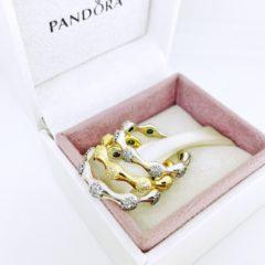 фотография набор трио колец пандора роскошное сияние