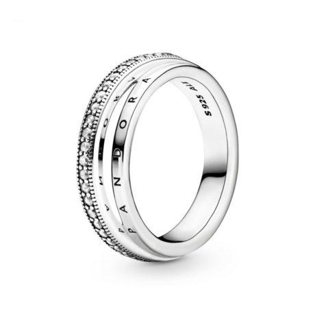 фотография кольцо пандора тройная логомания