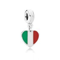 фотография подвеска пандора флаг италии 791550ENMX-