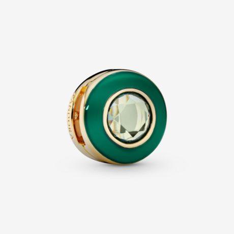 фотография клипса пандора reflexions зеленый сияющий круг 767891NMG-