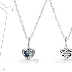 фотография кулон (медальон) пандора с цепочкой романтическое сердце (луна и звезды) 399232С01-45 №3