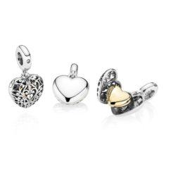 фотография подвеска медальон пандора сердце полное любви 767577СZ-
