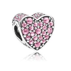 фотография шарм пандора розовое сердце любви 792069CZ-