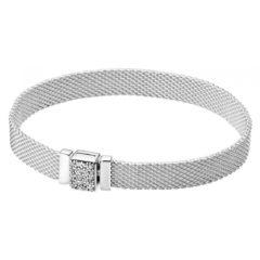 фотография браслет пандора reflexions со сверкающей застежкой 599166С01-