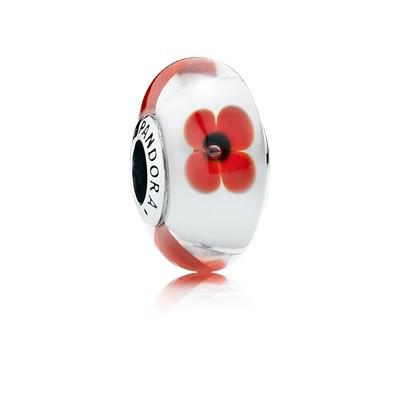 фотография мурано пандора красные цветы 791636-