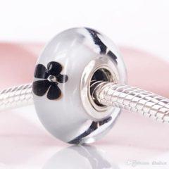 фотография мурано пандора черные  цветы (колекционная) 791605-