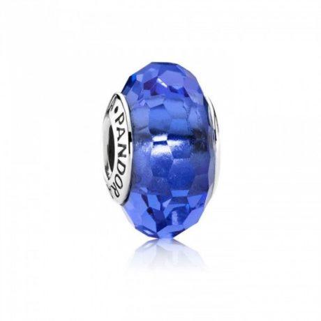 фотография мурано пандора синяя граненая 791067-