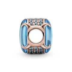 фотография шарм пандора овальный кабошон (цвет - голубой) 789309С01 №1
