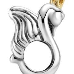 фотография шарм пандора неразлучные лебеди (с золотом 585пр) 799315С00 №2
