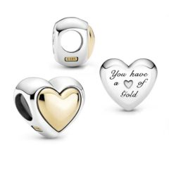 фотография шарм пандора золотое сердце (с позолотой 585 пробы) 799415С00 №1