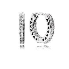 фотография серьги  пандора сверкающие кольца (маленькие)