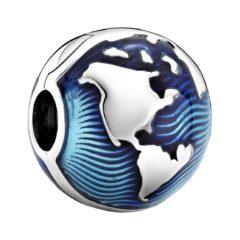 фотография клипса пандора синий глобус 799429c01
