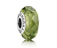 фотография мурано пандора граненый зеленый кристалл 791729NBP
