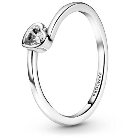 фотография кольцо пандора ассиметричное сердце 199267C02
