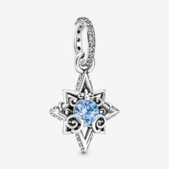 фотография подвеска пандора дисней голубая звезда золушки 399560C01