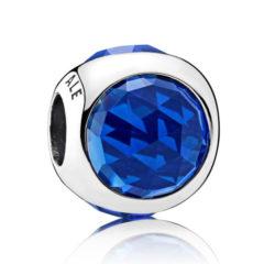 фотография пандора шарм синяя сияющая капля 792095NCB