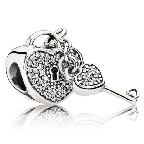 фотография шарм пандора ключ к сердцу 791429CZ