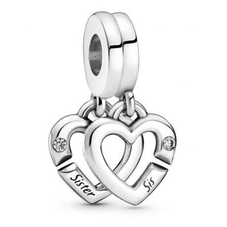 фотография подвеска пандора переплетенные сердца сестер 799538C01
